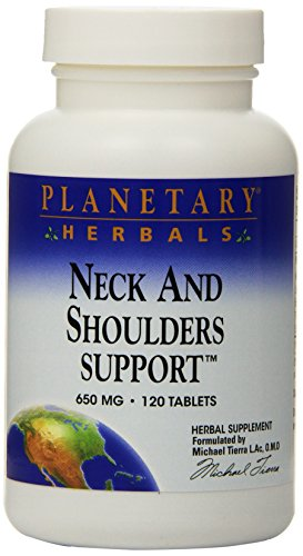 (Planetary Herbals Neck and Shoulders Support 650mg, Herbal Back Support Formulas, 120 Tablets (Pack of 2))
