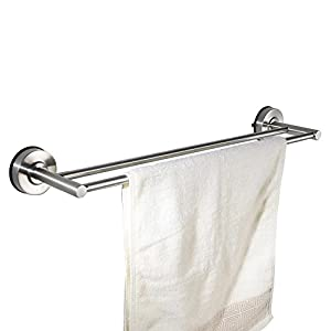 no drill towel bar kes suction cup towel bar sus 304 stainless steel 3549