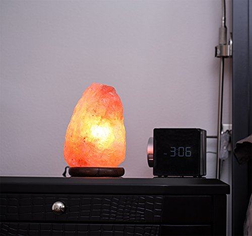 Ambient Salt Lamp Authentic Himalayan Lamp 7-9'' 7-9 lbs Hand Crafted Natural Crystal Salt Rock with UL Listed and Certified Dimmer Switch by Ambient Salt Lamp (Image #2)