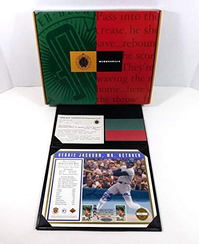 1993 Reggie Jackson Signed 8 x 10 HOF Induction Postcard Autograph Auto - Upper Deck Certified - MLB Cut Signatures from Sports Memorabilia