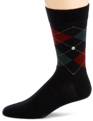 Burlington Men's 1 Pair Edinburgh Virgin Wool Argyle Socks 7.5-12 - Burlington Men