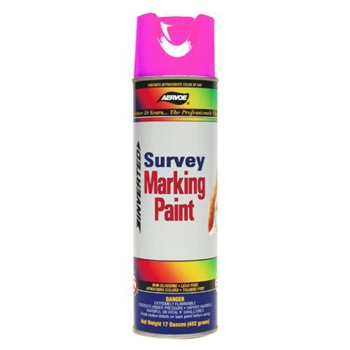 Aervoe 229 Fluorescent Survey Marking Paint, Aerosol 20 oz. (Pink) by Aervoe
