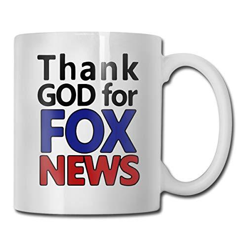 Fox News Funny Coffee Mug Best Gift For Him/Her, 11-oz White Mug