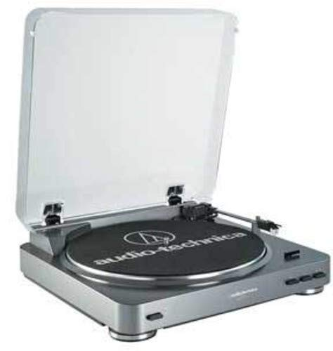 Audio-Technica At-Lp60 Belt-Drive Stereo Turntable, Silver