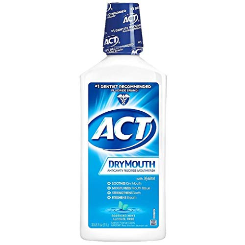 ACT Total Care Dry Mouth Anticavity Fluoride Mouthwash Soothing Mint 33.80 oz Pack of 2