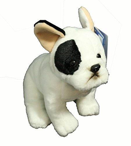 French Bull Dog Plush Toy - 12 White and Black