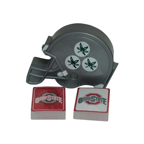 (Game Day Outfitters NCAA Ohio State Buckeyes 12DP Playing Cards & Helmet Case (2 Pack), One Size, Multicolor )