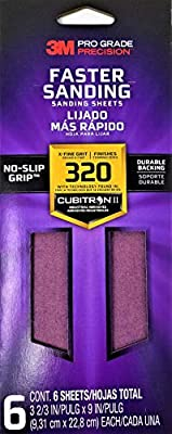 x 9 in 3M Pro Grade Precision 3-2//3 in 100 Grit Medium Ultra Flexible Sanding Sheets 4-Pack