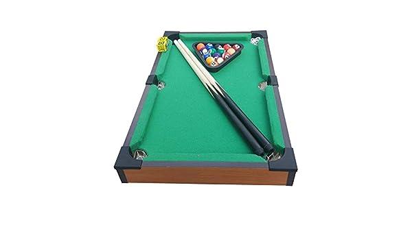 Tabla Top Pool Set Tablero de la mesa de billar de juguete en miniatura con la mini bolas de piscina Cue Sticks Accesorios for adultos niños del juego de escritorio en miniatura