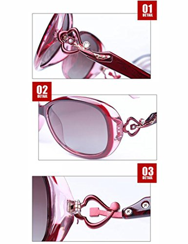 de Ms Drive Anti Lunettes UV Vin Vin Soleil de Rouge Soleil Rouge Couleur Polarisées Lunettes qRtp8znw