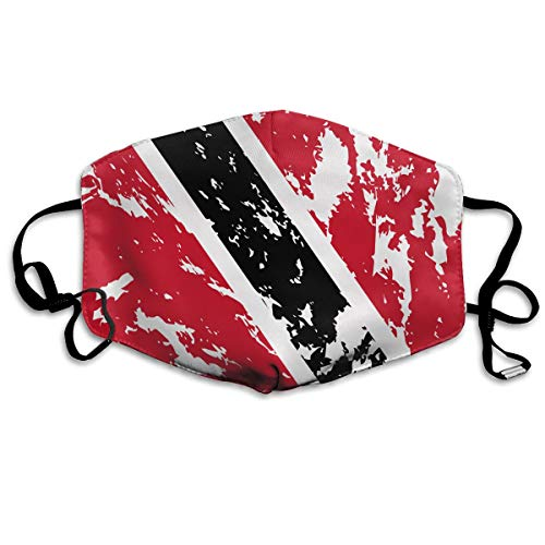 Unisex Mouth Mask With Adjustable Ear Loops, Trinidad And Tobago Flag Anti Flu/Dust Mouth Face Cover For Ski, Cycling, Camping, Comfy Breathable For Women, Man, Teen, Kids ()