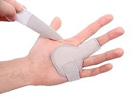 Improved Version | MedicHelp Adjustable Trigger Finger Splint With Innovative Foam For Maximum Comfort - Gray
