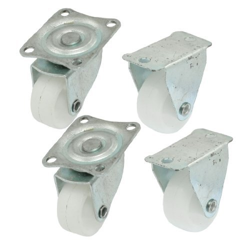 DealMux 1.2 Tall Wheel Rectangular Top Plate Plastic Tire Casters (4 Piece) by DealMux