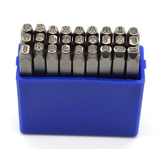 [해외]Wokesi 1/8 (3mm) 고강도 탄소 강철 대문자 문자 알파벳 문자 금속 코드에 대 한 금속 핸드 스탬프 펀치 키트 태그 보석 만들기 다이/Wokesi 1/8 (3mm) High Hardness Carbon Steel Uppercase Dot Letters Alphabet Script Metal Hand Stamp Punches...