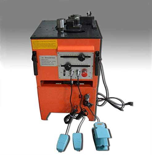 CCTI Electric Rebar Cutter Bender Combo Machine – Heavy Duty Cutting Bending Up to #8(1 inch/25 mm) Grade 60 Rebar(Model: RBC-258)