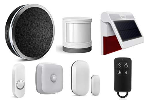 Diamond TUYA Smart WiFi Home Security Alarm System, Intelligent T30 Wireless Burglar Siren Alarm, Free Alarm…