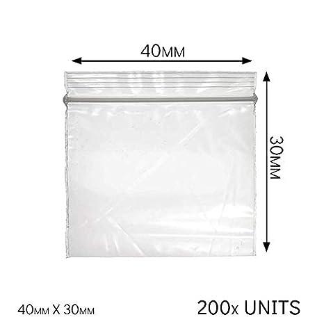 Self Seal Bolsas Autoadhesivas de plástico al vacío, 40 x 30 cm, Dos Tipos Diferentes a Elegir, Transparente, Baggies 40 x 30 mm