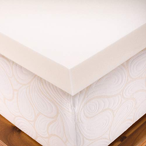 SleepJoy 3-inch ViscO2 Memory Foam Mattress Topper with Breathable Design, Made in The USA - Queen Size
