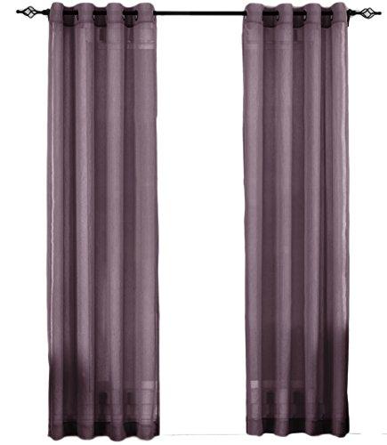 Curtains Eggplant (Set of 2 Panels 100