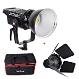 Aputure Light Storm LS C120d II COB 120D Mark 2 + Fresnel mount 180W 5500K LED Continuous Video Light CRI96+ TLCI97+ Bowens Mount,the Ultimate Upgrade,Support DMX,5 Pre-programmed Lighting Effects