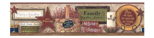 York Wallcoverings Friends and Family Shelf Border