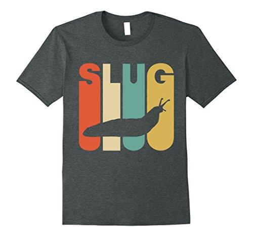 Mens Vintage Style Slug Silhouette T-Shirt 2XL Dark (Slug Costume)