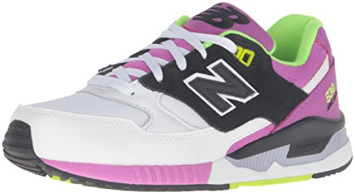 Purple Bianco Lifestyle 530 Ginnastica Mesh Suede New Balance Donna White Leather Scarpe da Zvw7E