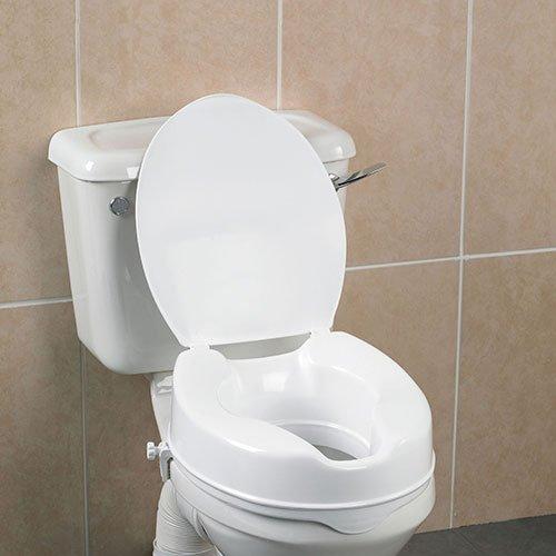 Adlatus 83171 Toilettensitzerhöhung Savannah 10 cm, mit Deckel