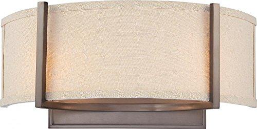 (Nuvo Lighting 60/4854 Two Light Wall Sconce Vanity, Hazel)