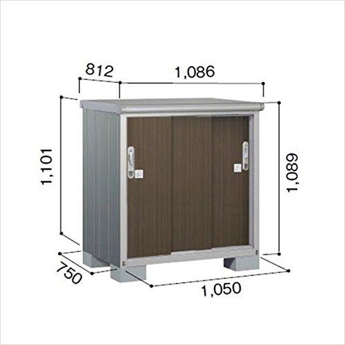 ヨドコウ ESE/エスモ ESE-1007Y DW 小型物置  『屋外用収納庫 DIY向け ESD-1007Yのモデルチェンジ』 ダークウッド B01JZLKGOO