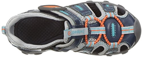 pediped Jungen Canyon Sandalen, Blau (Teal Orange), 30 EU Kinder