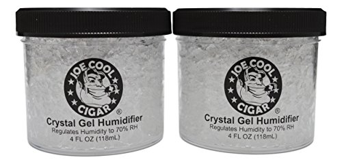Joe Cool Cigar Crystal Gel Humidifier for Cigar Humidors (4 oz Jars) - 2 Pack