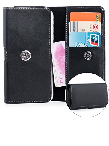 Cell Phone Accessories Lg G6 Case Leather Horizontal Holster Belt Clip Loops Pouch Cover Black Latest Technology
