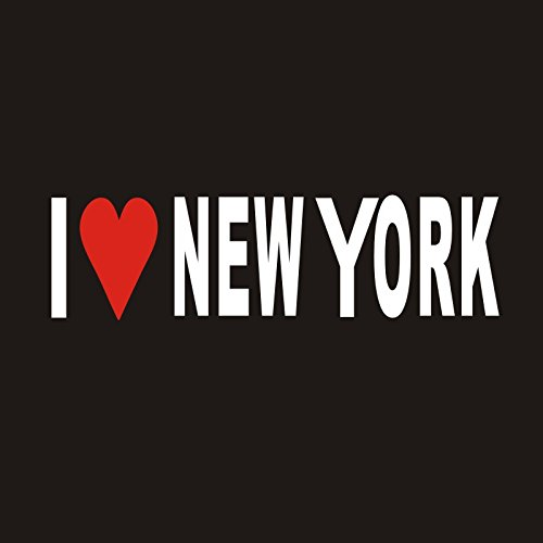 I LOVE NEW YORK Sticker DC419 Windshield Decal Window Car IPad Mac Motorcycle Luggage Skateboard (Pvc Windshield Bag)