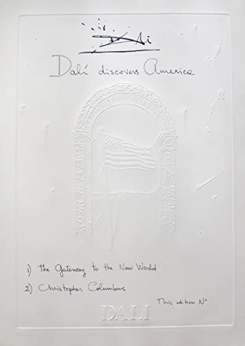 Salvador DALI DISCOVERS AMERICA CHISTOPHER COLUMBUS 1979 Signed Embossed Etching