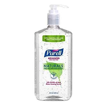 PURELL Advanced Hand Sanitizer NATURALS 28 oz Pump Bottle (Pack of 4)
