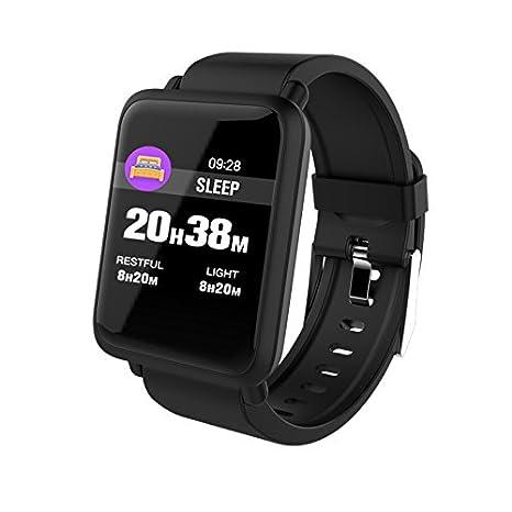 WOOLIY cómodo SmartWatch OLED Display/Compatible con iOS y ...