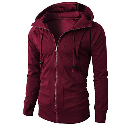 Men Hoodie Pullover,Vanvler Male Autumn Winter Jacket Long Sleeve Zipper Blouse Sport Tops ()