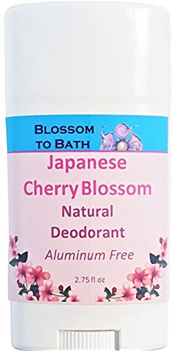 Blossom to Bath Japanese Cherry Blossom Natural Deodorant (2.75 oz) - Musky and Sweet Cherry Blossoms - Aluminum Free