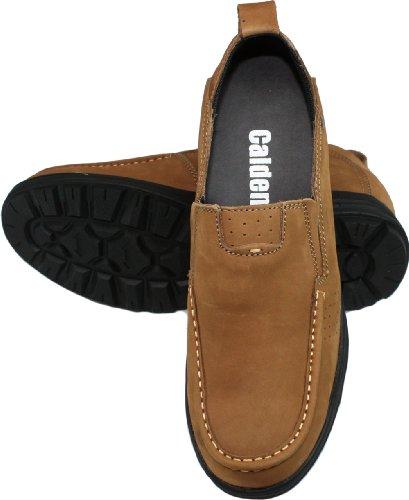 Calden-k286021-7,6cm Grande Taille-Hauteur Augmenter Chaussures ascenseur (Marron Chaussures à enfiler décontracté)