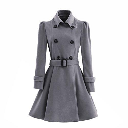Double Breasted Womens Trench Coat - 3