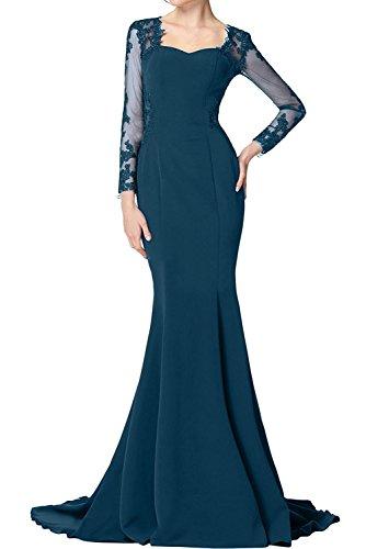 Meerjungfrau Fuchsia Brautmutterkleider La Elegant Festlichkleider Partykleider Langarm Tuerkis Braut Dunkel Abendkleider mia Lang wZxtq0SpXt