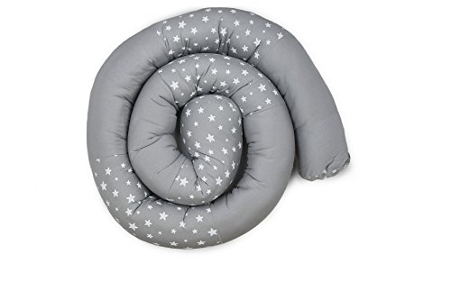 """Heny Deutch Long Bumper Snake, 86"""" Crib Bumper, Cot Pillow 