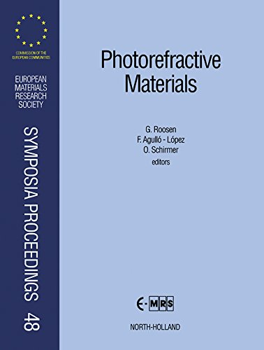 Photorefractive Materials: Proceedings: Symposium C on Photorefractive Materials: Growth/Doping, Optical and Electrical Characterizations, Charge Transfer ... Research Society Symposia - Optical Lopez