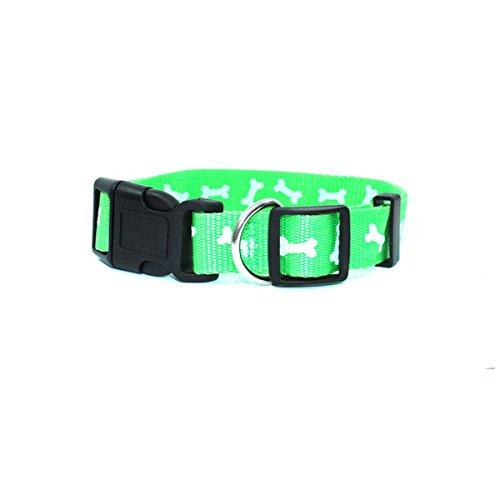 Green White Large Green White Large GKC Dog Collar (Large, Green White)