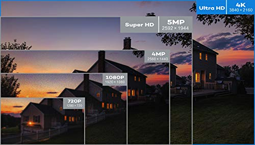 ONWOTE UltraHD 4K 8MP 4X Optical Zoom IP PoE Security Camera Outdoor, 3840x 2160 8-Megapixels, 200ft Night Vision, Motorized Varifocal Lens 30 -120 View Angle, IP66 Weatherproof