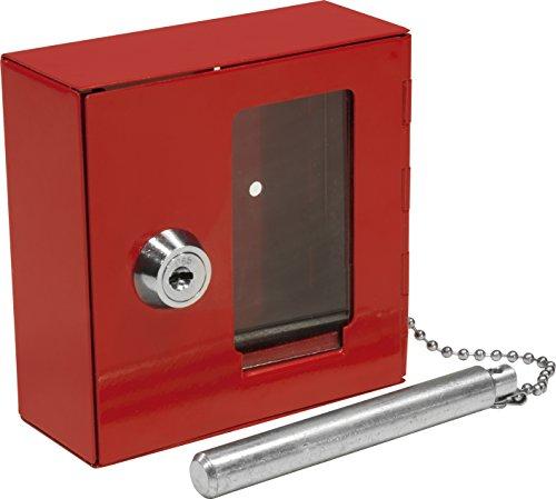 BARSKA Breakable Emergency Key Box w/ Attached Hammer (In Case Of Emergency Break Glass Box)