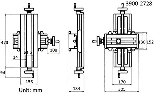 HHIP 3900-2728 6 x 18-1//2 Compound Slide Table 6 x 18-1//2 Size 6 x 18-1//2 Size ABS Import Tools Inc.