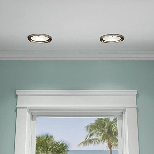 Kichler Marita Brushed nickel and silver Baffle Recessed Light Trim (Fits Housing Diameter: 6-in)