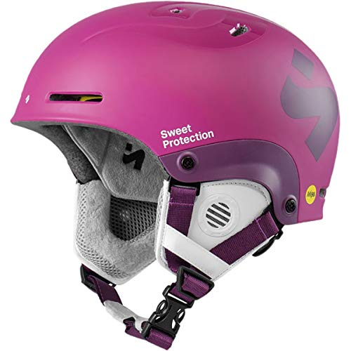 Sweet Protection Blaster II JR MIPS Kids Ski and Snowboard Helmet (Matte Opal Purple, Small/Medium)